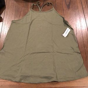 OLD NAVY olive green tank top size small